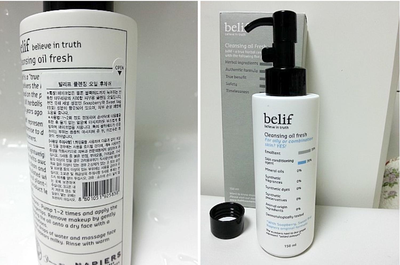 Belif Cleansing Oil Fresh