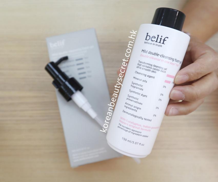 Belif Mild Double Cleansing Foam Gel