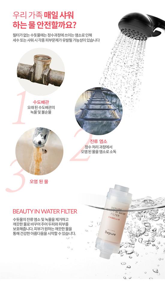 Bepure 保濕嫩白淨水除氯過濾器