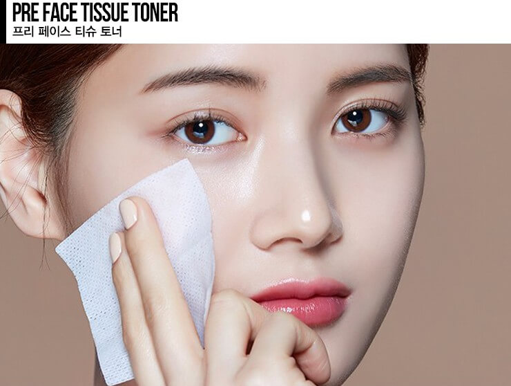 eSpoir 溫和清爽補濕爽膚水綿布 /急救面膜