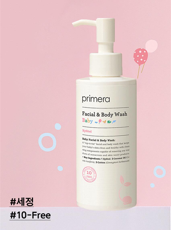 Primera 2合1寶寶溫和潔面+潔膚露