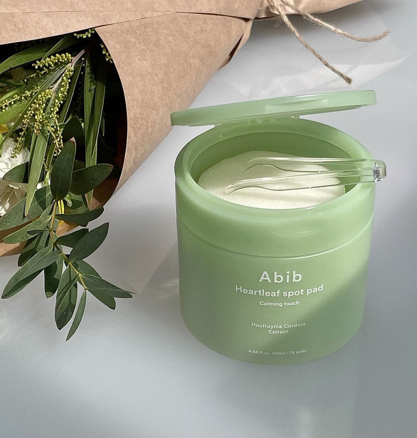 Abib  魚腥草2合1去角質+保濕舒緩護理棉