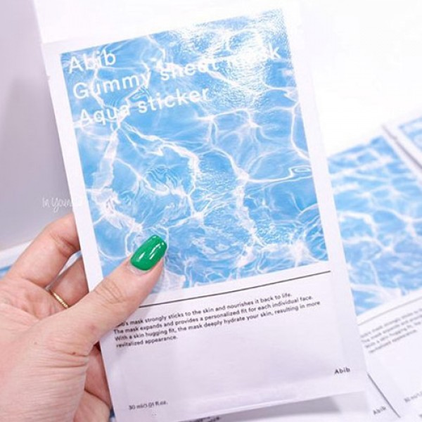 Abib Gummy Sheet mask : Aqua Sticker 透明質酸水庫糖黐豆面膜 ♥ 1盒10塊