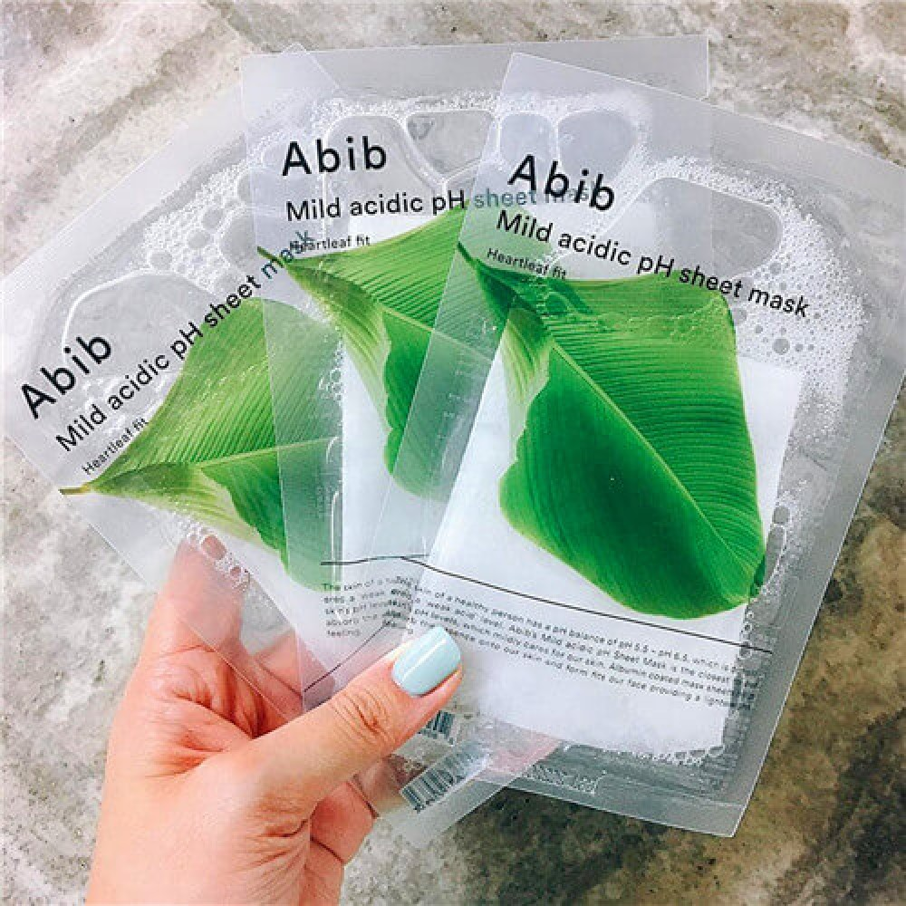Abib mild acidic pH sheet mask: heartleaf fit 弱酸性抗痘魚腥草面膜