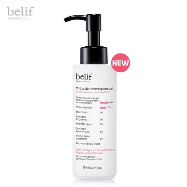 Belif Mild Double Cleansing Foam Gel 多效綿滑溫和卸妝潔面啫喱