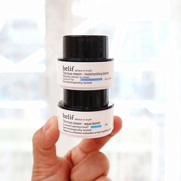 Belif The True Cream Aqua Bomb + Moisturizing Bomb 炸彈霜試用套裝