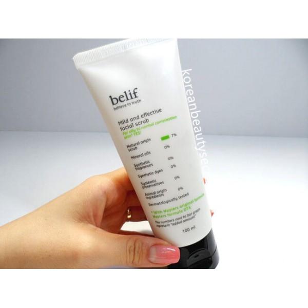 Belif Mild And Effective Facial Scrub 棉花纖維素去角質啫喱