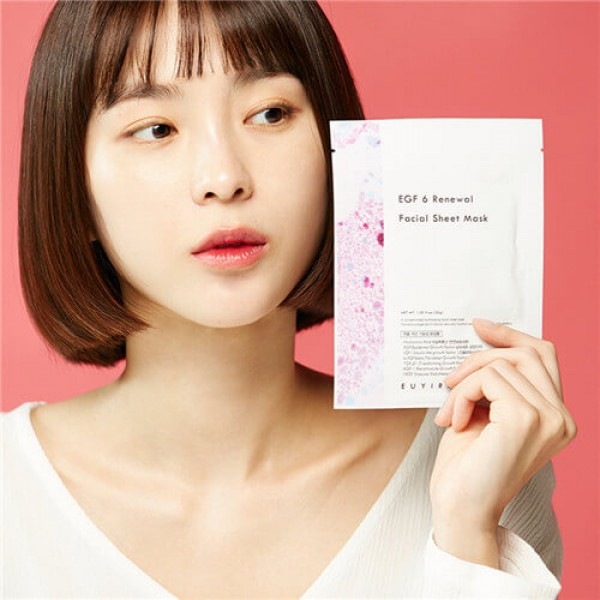 Euyira EGF 6 Renewal Facial Sheet Mask 無刺激再生因子修護全效面膜