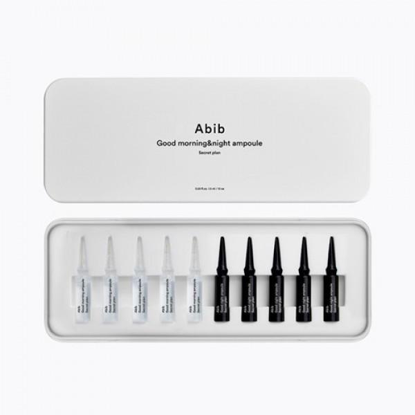 Abib Good Morning And Night Ampoule Secret Plan 1周加強保濕修復高濃縮安瓶 1.5ml x 10