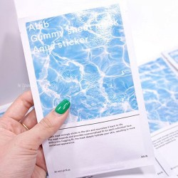 Abib Gummy Sheet mask : Aqua Sticker 透明質酸水庫糖黐豆面膜 ♥ 1盒10塊