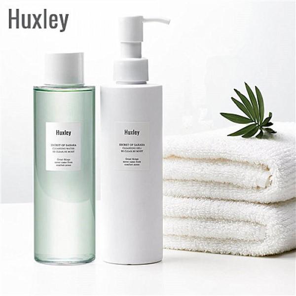Huxley Be Clean Be Moist 仙人掌魔法水感清爽卸妝水 + 潔面透明啫喱