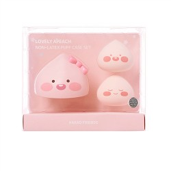 Kakao Friends Lovely Apeach Non-Latex Puff Case Set 水滴美妝蛋套裝