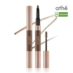 athe Double-Edge Vegan Brow 純素持久立體自然眉筆+染眉造型膏