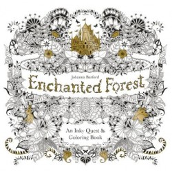 Enchanted Forest Colouring Book ♥ 魔法森林填色繪本 英國原裝版