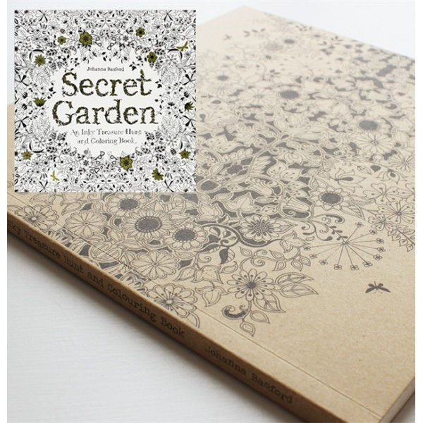 Secret Garden An Inky Treasure Hunt and Colouring Book ♥ 秘密花園 英國原裝版