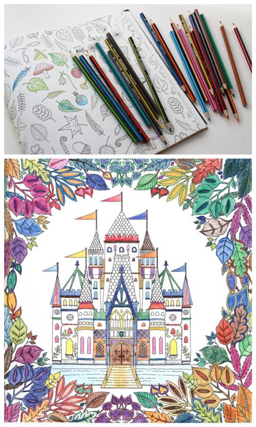 Enchanted Forest Colouring Book ♥ 魔法森林填色繪本 英國既原裝版