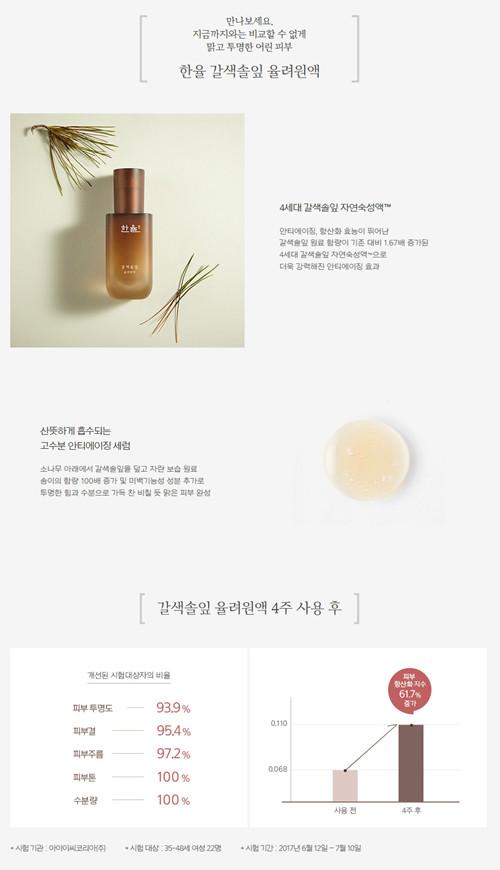 Hanyul Brown Pine Leaves Optimizing Serum 韓律律呂丹煥膚濃縮導入原液