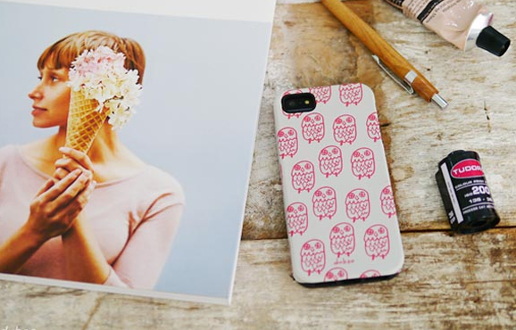 Korea Phone Case ♥ Owl Pink / Black ♥ 100% made in Korea